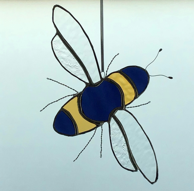 Stained Glass Bee hanging