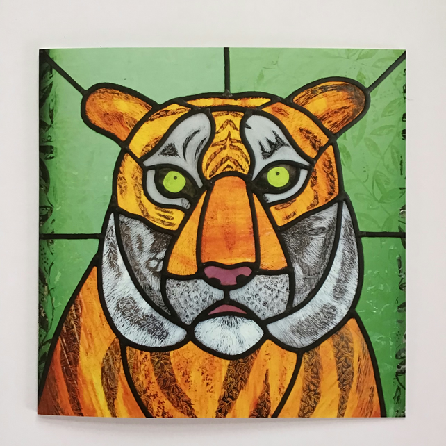 Tiger Burning Bright greetings card