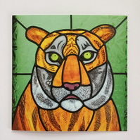 Greetings Card - Tiger Burning Bright