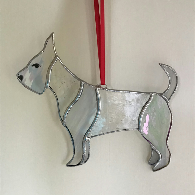 Stained Glass Dog hanging