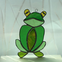 Stained Glass Frog hanging