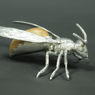 European Hornet pewter sculpture