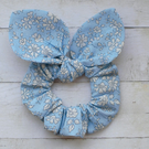 Liberty Print Hair scrunchie with Knotted Bow