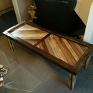 Reclaimed mixed hardwood coffee table
