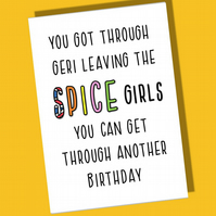 Funny Birthday Card, Birthday Card, Card for him or her, LGBT, Spice Girls