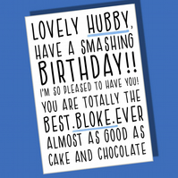 Funny Birthday Card, Husband card, Hubby birthday, Card for him