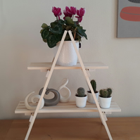 Wooden Tabletop Ladder Style Shelves