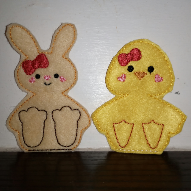 Chick & Rabbit Finger Puppets