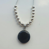 Onyx Gemstone Pendant Necklace. Handmade. The perfect Gift. Therapeutic.