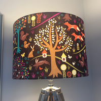 foxtrot handmade lampshade in brown and orange