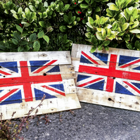 Distressed Union Jack Pallet Wood Sign