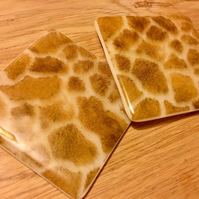Giraffe Hide Pattern Coaster