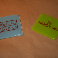 Your Logo on a Glass Coaster - Made to order in any colour