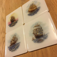 Printed Tall Ship Coaster - Various Designs