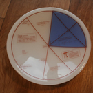 Geektastic Circle Maths Pi Equations Bowl - Optional Different Colour Segment