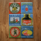 Set of Six Vintage Advertisement Coasters