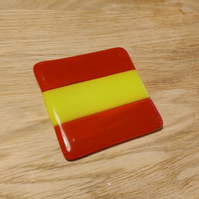 Spain Flag Coaster - Red and Yellow Stripes