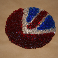 Textured Union Jack Flag Bowl - Made to Order