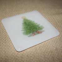Colourful Christmas Tree Coaster