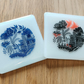 Black & Red or Blue Asian Style Coaster