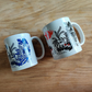 Black & Red or Blue Asian Style Mug