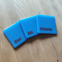 Ctrl Alt Delete Keyboard Coasters - Made to Order