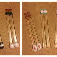 1 Pair of Trans or Gay Pride Rainbow Cocktail Stirrers