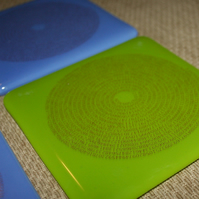Spiral Pi Coaster - Made to order in any colour