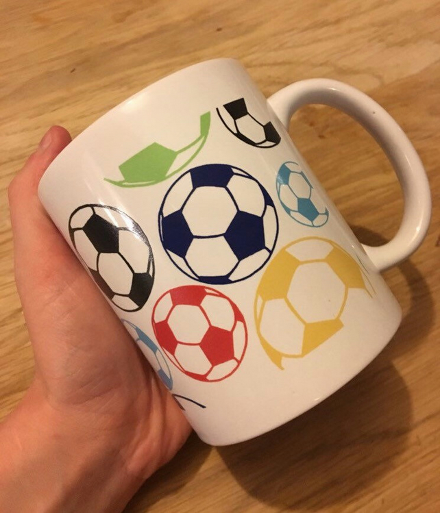 Colourful Football Mug