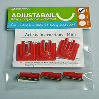 Adjustabail Mini - self adhesive glass display kit