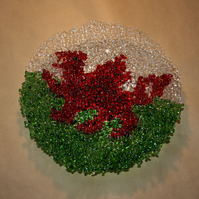 Textured Welsh Dragon Flag Bowl - Made to Order