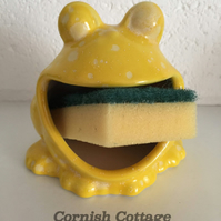 Frog sponge holder, kitchen decor, scrubby holder, soap holder housewarming gift