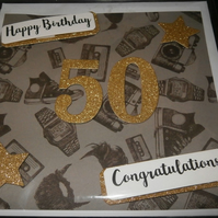 Homemade 50th Birthday Card
