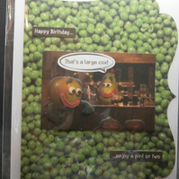 Vicious Veg Humour Homemade Card - Birthday