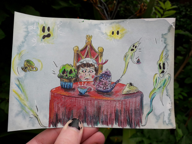 Haunted Tea Party, Mini Illustration
