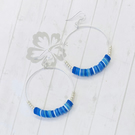 All The Blues Sterling Silver Hoop Earrings