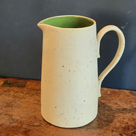 Ceramic green jug