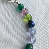 Multi Coloured Faceted Crystal Bracelet