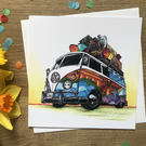 VW Camper Greetings Card