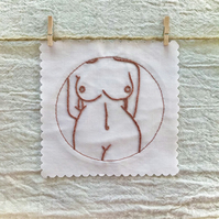 Embroidered Patch, Nude 1 (in Neutrals and Naturals)