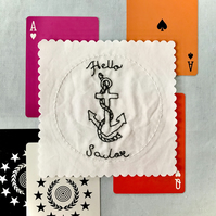Embroidered Patch, Amy (in White) - Tattoo 6, Hello Sailor