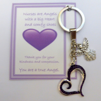 Nurses are Angels with a Big Heart Thank you Gift for Nurse Show Appreciation