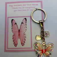 Key Workers are True Heroes Gift Show Your Appreciation Thank You Gift Key Ring