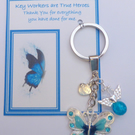 Key Workers are True Heroes Gift Show Appreciation Thank You Gift Key Ring V3