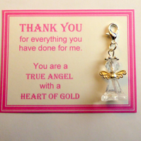 Thank You Gift True Heroes With Heart of Gold Show Appreciation NHS Key Ring v3