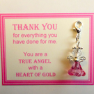 Thank You Gift True Heroes With Heart of Gold Show Appreciation NHS Key Ring v4