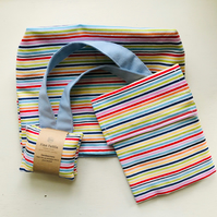 Small Bag with matching eco-friendly reusable snack bag and hand warmers