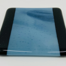 Fabulous Black and Streaky Blue Fused Glass Coaster.