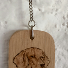 Long Haired Dachshund keyring