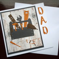 Toolbox DIY Themed Father's Day Card, Handmade for Dad